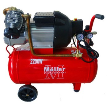 Компрессор Moller AC 400/50 220В 2200Вт, 2 выхода, ресивер 50л